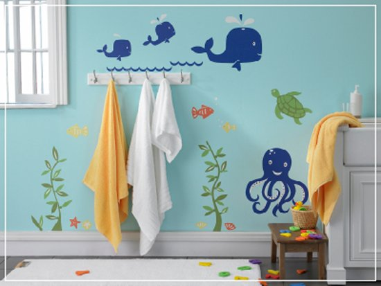 Kids bathroom decor ideas for Sea bathroom ideas