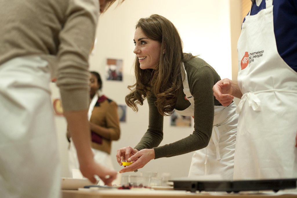 A part of Will and Kate's royal holiday plans included taking part in a healthy living cookery session at Centrepoint's Camberwell Foyer in London. The national charity provides housing and support to homeless young people.