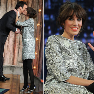 Pictures of Alexa Chung in Silver Dress and Shoes on Jimmy Fallon: Steal Her Head to Toe Metallic Look with Shopstyle Australia