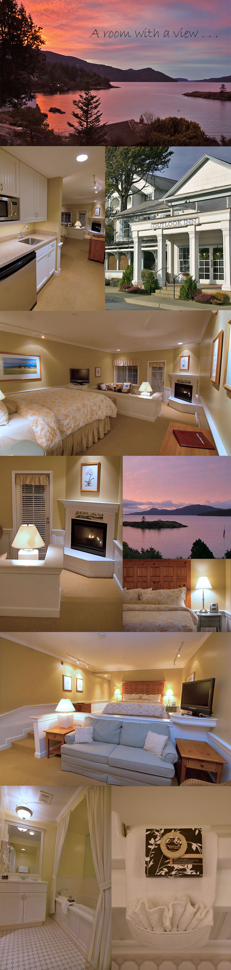Our New Years Eve Room at The Outlook Inn on Orcas Island