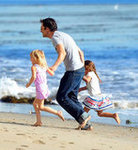Olivier Martinez in Malibu