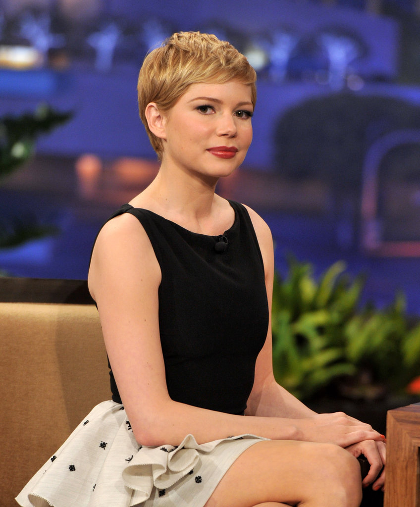 Michelle Williams struck a pose on The Tonight Show With Jay Leno.