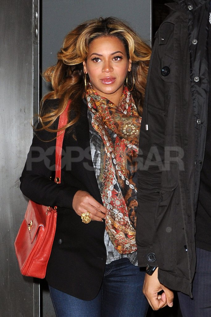 Beyoncé Knowles let her hair down in NYC.