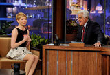Michelle Williams entertained Jay Leno on his talk show.