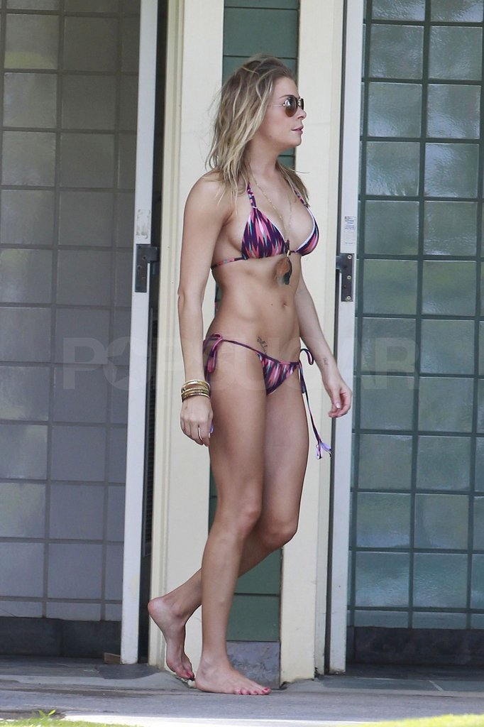 LeAnn's bikini had a side tie detail.