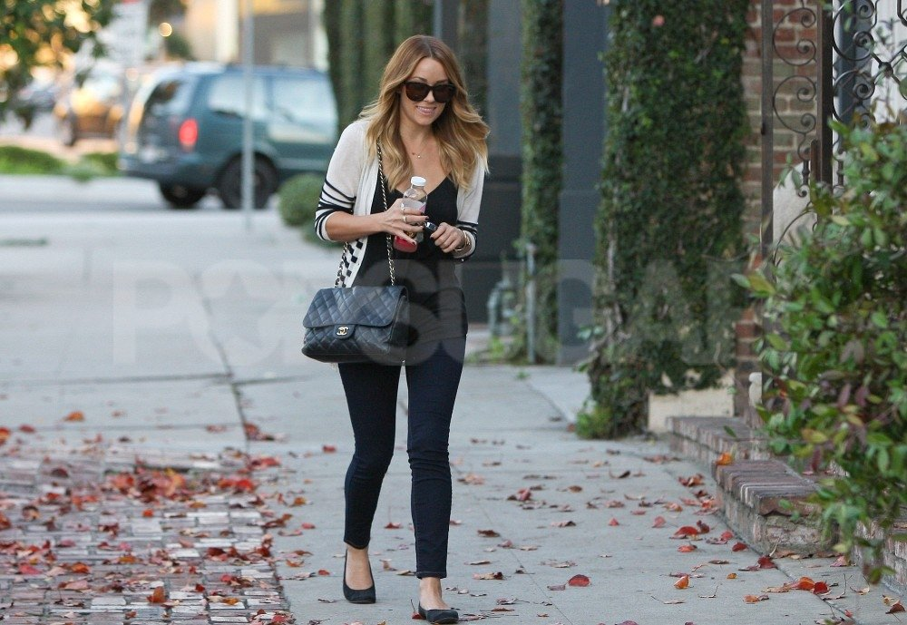 Lauren Conrad ran errands in sunglasses.