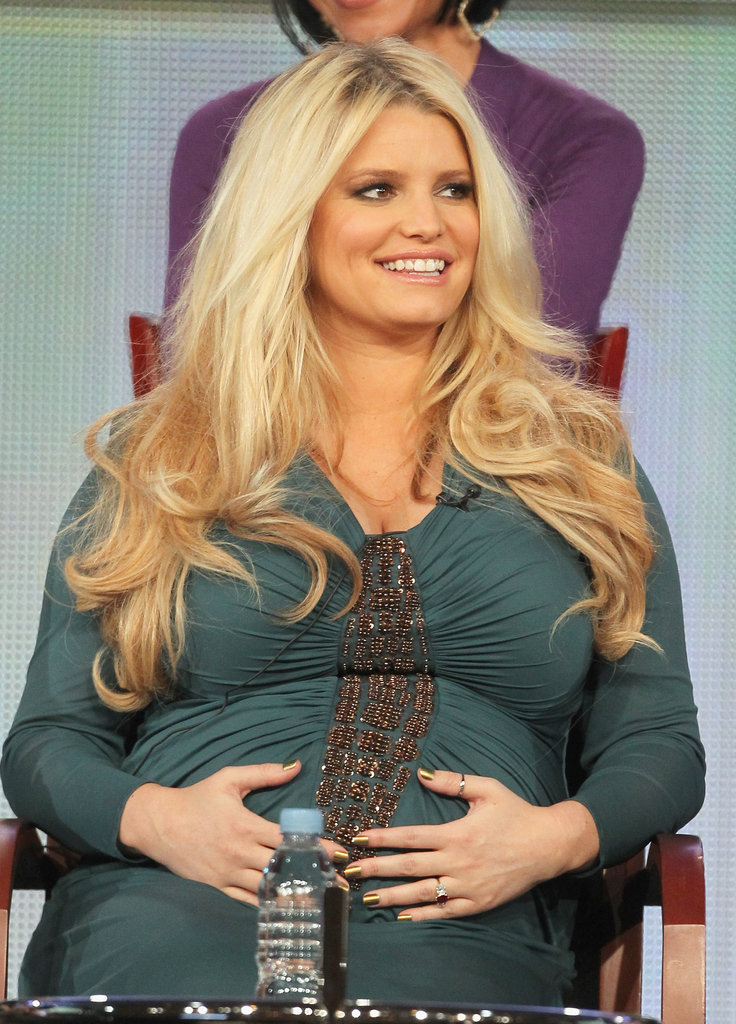 Jessica Simpson promoting Fashion Star.