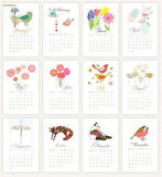 Whimsical Mini Printable Calendar For 2012 ($10)