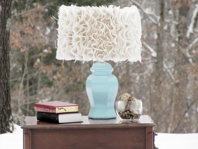 Tatertots and Jello re-creates an Anthropologie-inspired lamp for much, much less money.  Source: Tatertots & Jello