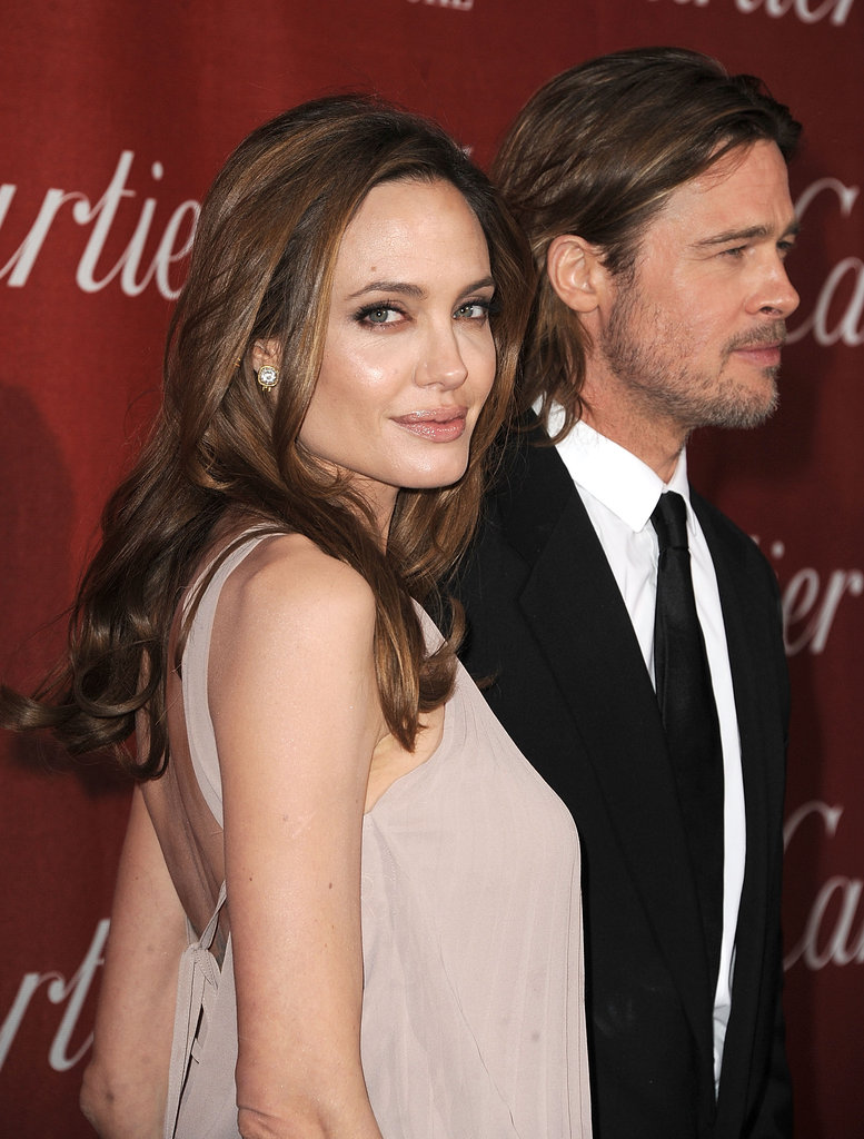Angelina Jolie, Brad Pitt and His Cane Hit the Palm Springs Film Festival