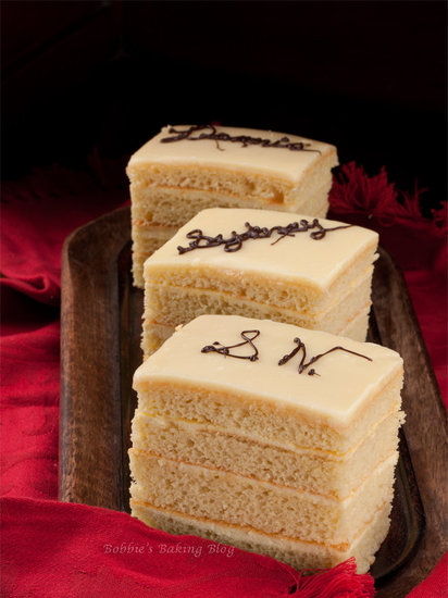 bavaroise creme opera cake