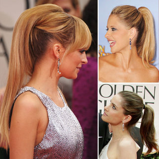 Ponytails at the Golden Globes 2012