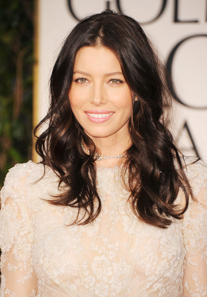 Jessica Biel got glamorous for the 2012 Golden Globe Awards.