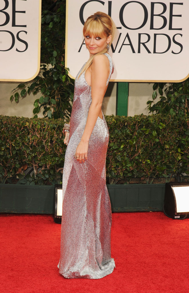 Nicole Richie pulled her hair up for the Golden Globes.