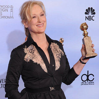 Meryl Streep Golden Globes Press Room (Video)