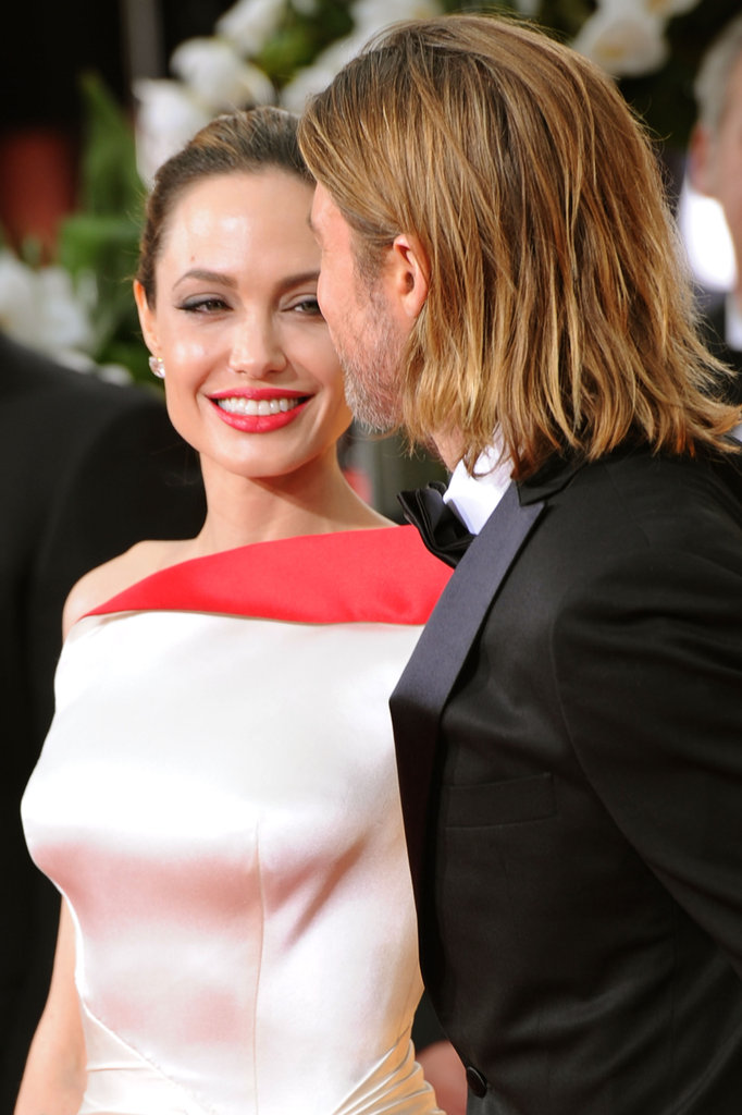 Angelina Jolie and Brad Pitt at the Golden Globes.