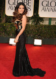 Salma Hayek at the 2012 Golden Globe Awards.