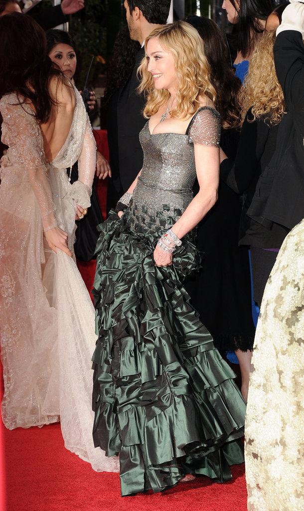 Madonna at the Golden Globes.