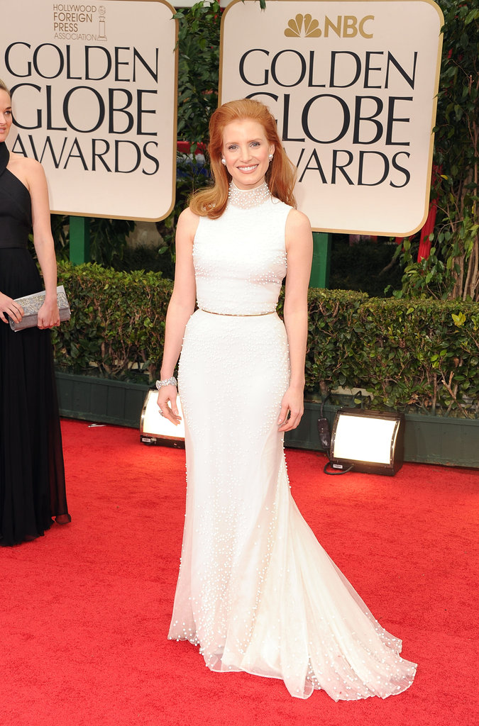 Jessica Chastain at the Golden Globes.