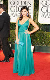 Jenna Dewan in a green dress.