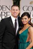 Channing Tatum and Jenna Dewan arrived at the Golden Globes.