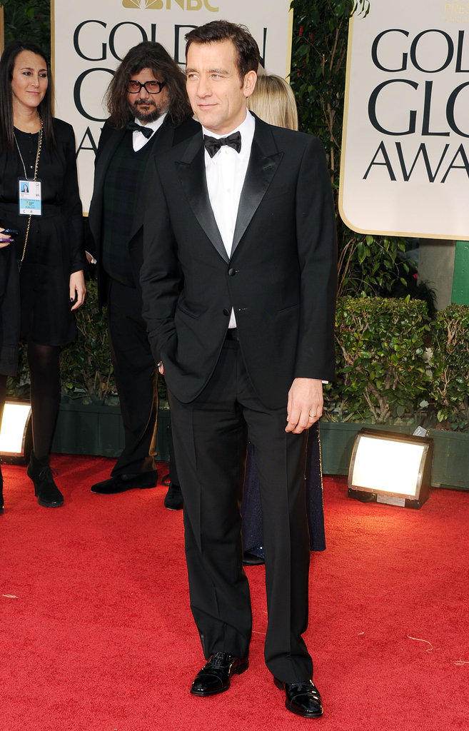 Clive Owen at the Golden Globes.