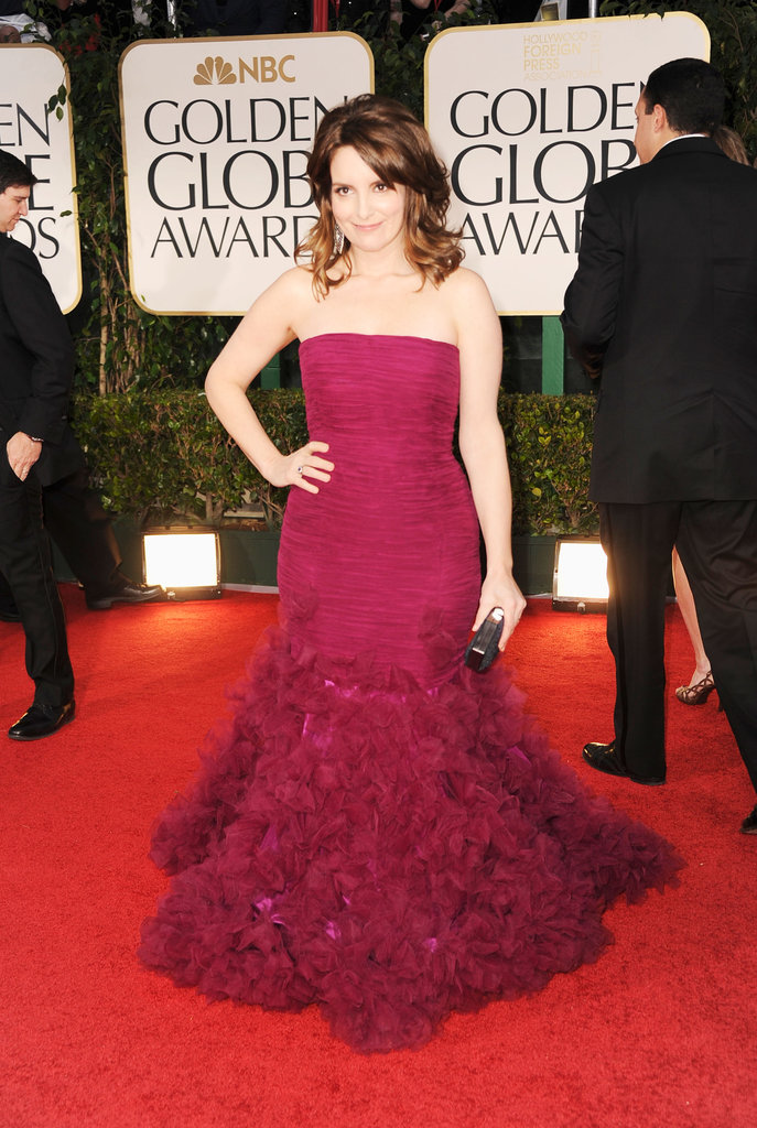Tina Fey at the Golden Globes.