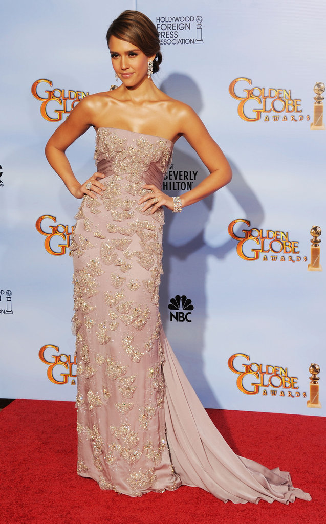 Jessica Alba struck a pose on the red carpet.