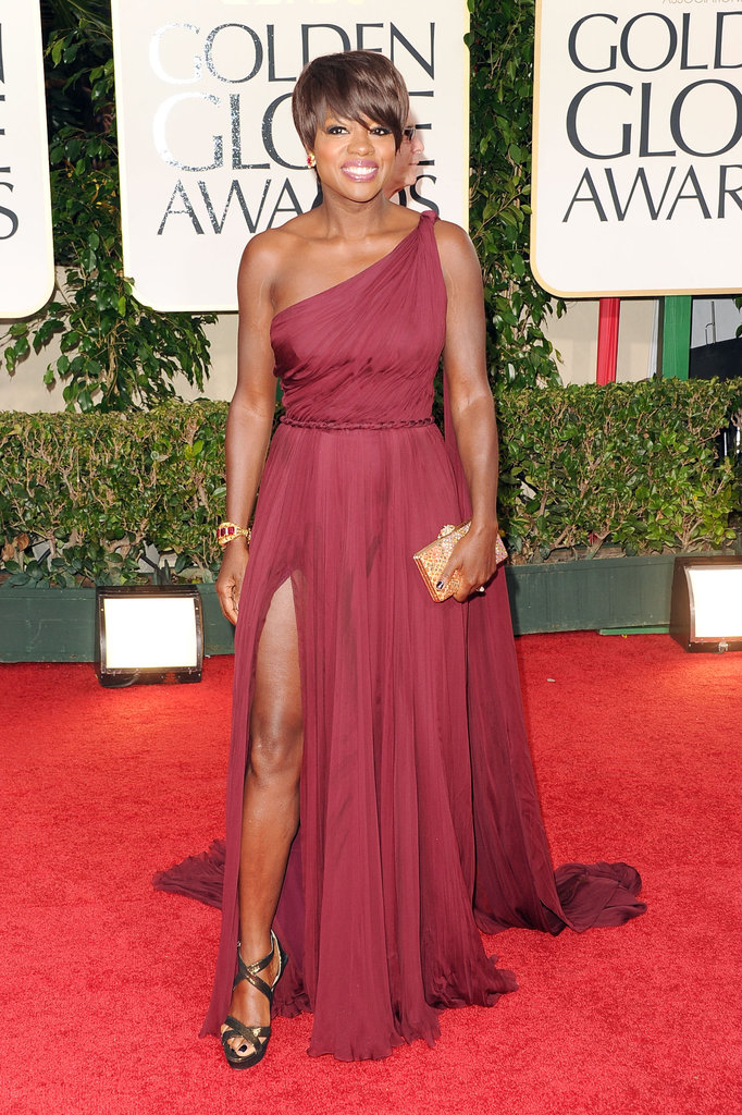 Viola Davis on the red carpet at the Golden Globes.