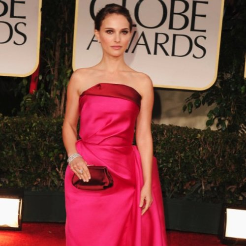 Natalie Portman Pictures at Golden Globes 2012