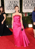 Natalie Portman at the Golden Globe Awards.