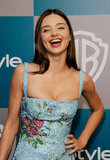 Miranda Kerr let out a laugh at InStyle's Golden Globes afterparty.