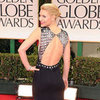 Claire Danes Black and White Dress Golden Globes Pictures
