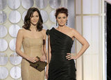 Katharine McPhee and Debra Messing were side by side in LA.