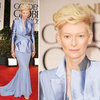 Tilda Swinton at Golden Globes 2012