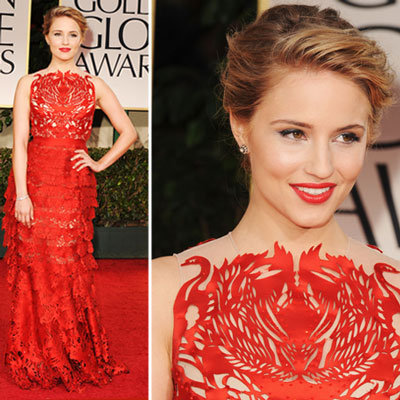 Dianna Agron at Golden Globes 2012