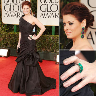 Debra Messing in Monique Lhuillier at Golden Globes 2012