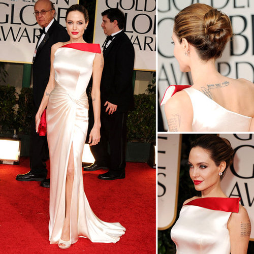 Angelina Jolie at Golden Globes 2012