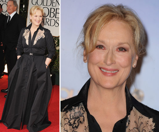 Meryl Streep's gown was livened up by the floral print accents.