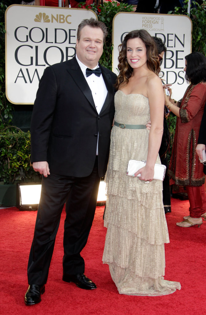 Modern Family's Eric Stonestreet and wife Katherine Tokarz arrive.