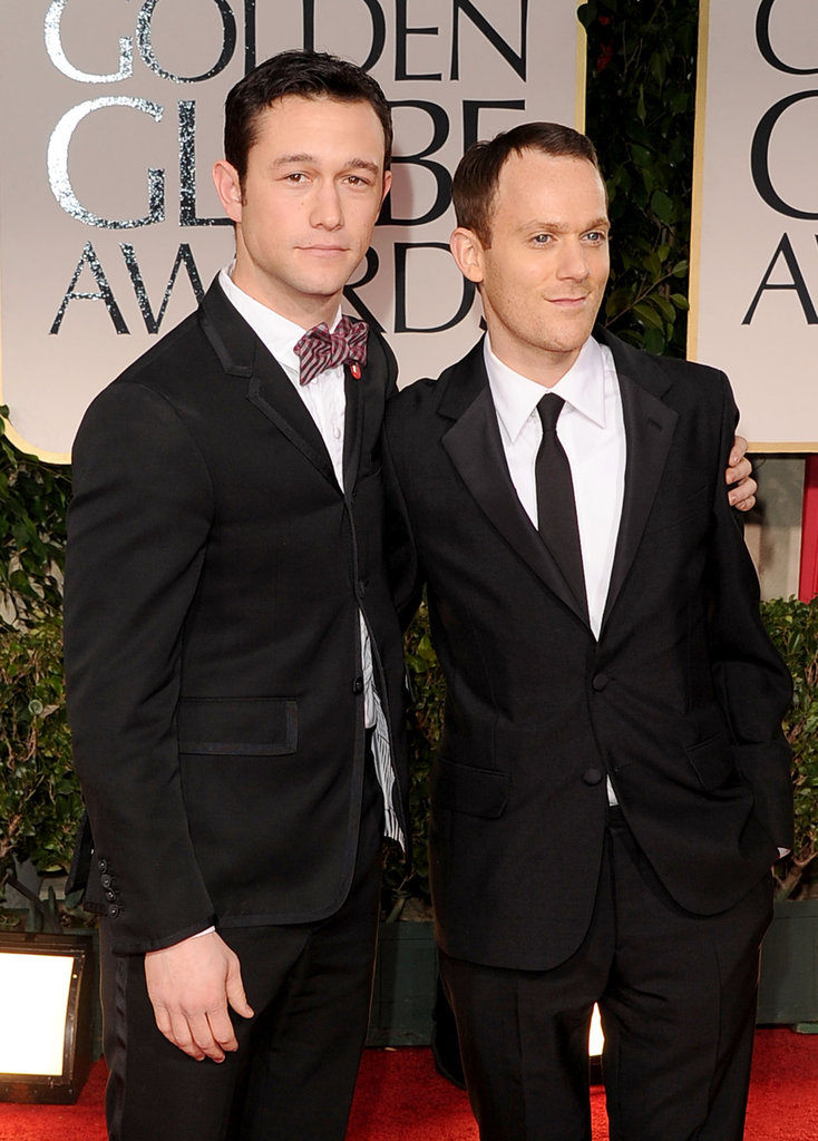 50/50's star Joseph Gordon-Levitt and producer Will Reiser walk the carpet.