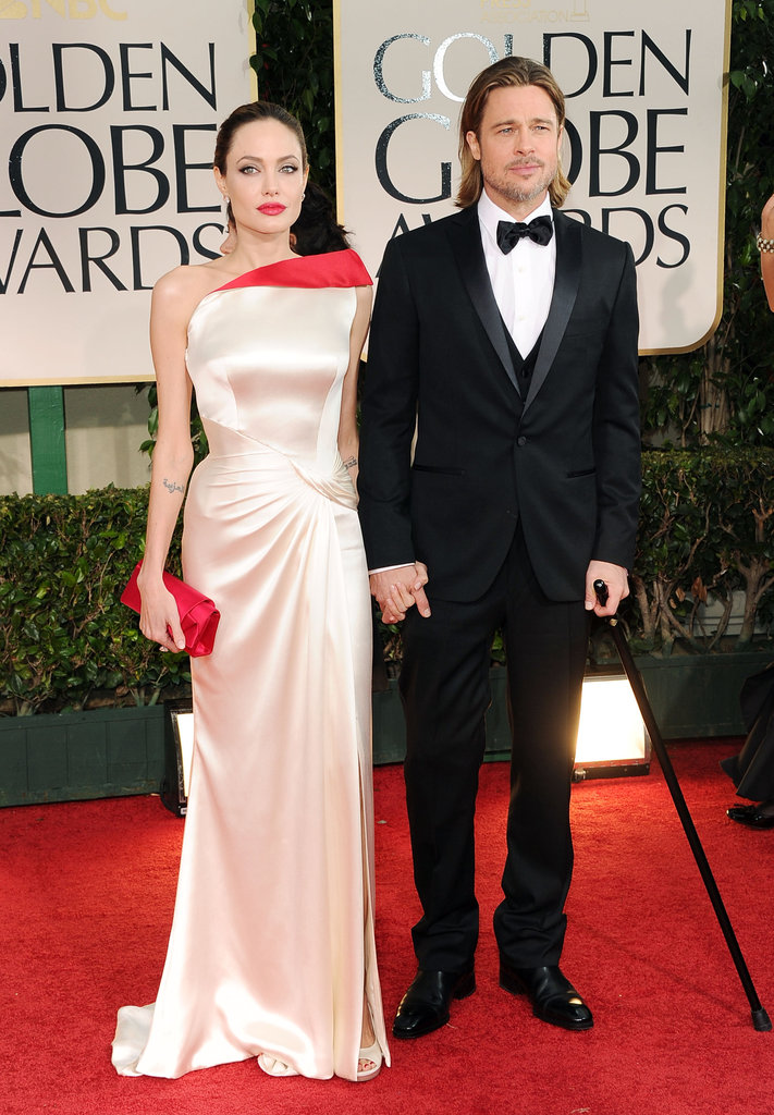 Brad Pitt and Angelina Jolie make a glamorous pair at the Golden Globes.