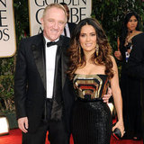 Salma Hayek and her husband Francois-Henri Pinault step out on the red carpet.