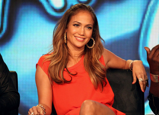 Jennifer Lopez at American Idol panel during 2012 TCAs.