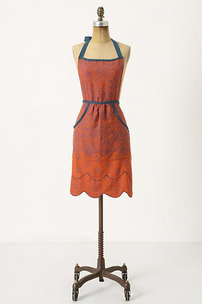 For Lunch in the Country: Lacy Jacquard Apron