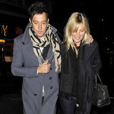 Jamie Hince kept his wife, Kate Moss, close.