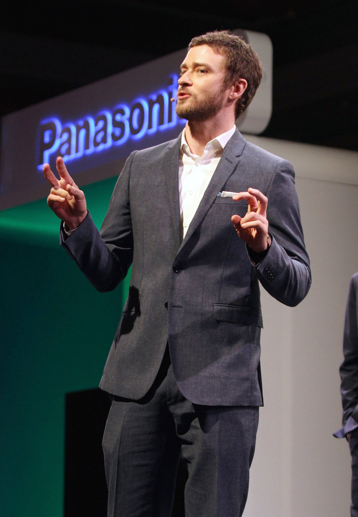 Justin Timberlake wore a suit for the 2012 International Consumer Electronics Show.