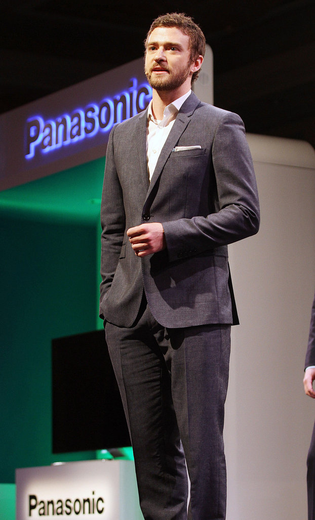 Justin Timberlake spoke on behalf of Panasonic in Las Vegas.