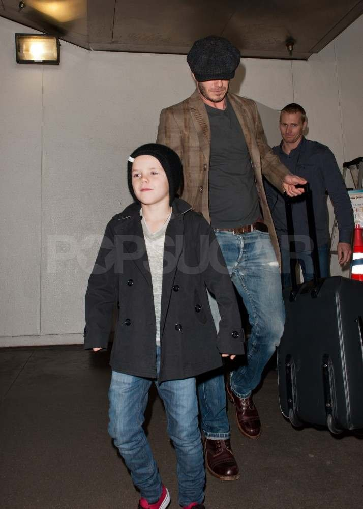 David Beckham with Cruz in LA.