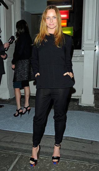 Stella McCartney wore all black to the opening of her latest NYC outpost.